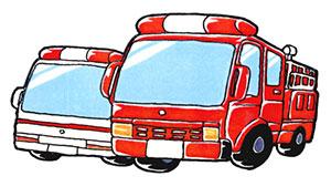 「はたらく消防」写生会作品展示